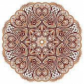 Ornate ethnic henna colors vector mandala