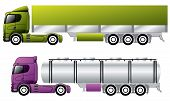 picture of 18 wheeler  - European trucks with awning and tanker trailers - JPG