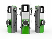 foto of electric station  - Electric Vehicle Charging Station isolated on white background - JPG