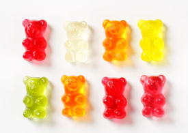 foto of gummy bear  - selection of gummy bears - JPG