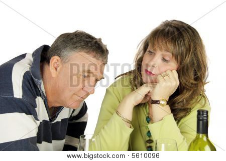Dejected Middle Aged Couple