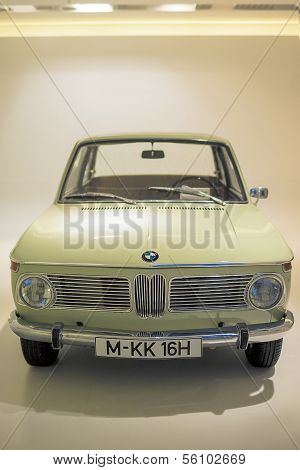 Munich, Germany- june 17, 2012: BMW 1600 class coupe automobile on Stand in BMW Museum