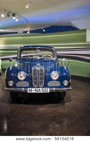 MUNICH, GERMANY - JUNE 17, 2012: : Bmw 501/502-series Large Sedan On Display In Bmw Museum in June 1