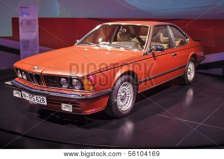 MUNICH, GERMANY - JUNE 17, 2012: Bmw 628 Rs  Coupe On Stand In Bmw Museum in June 17th , 2012 in Mun