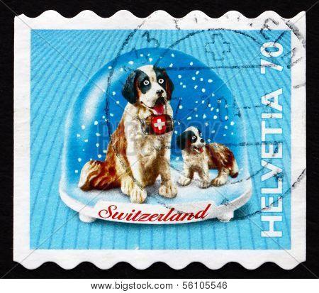 Postage Stamp Switzerland 2000 St. Bernard Dog, Souvenir