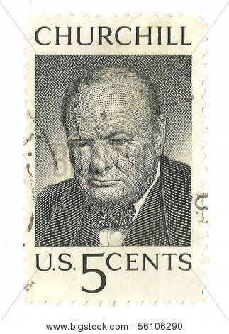 United States Stamp of Winston Churchill