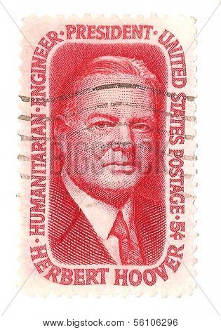 United States Stamp of President Herbert Hoover