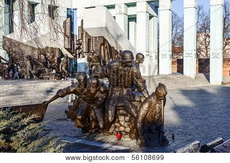Monument To 1944 Warsaw Uprising, Poland