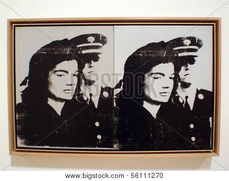 Sad Jackie Kennedy Screenprint On Canvas Andy Warhol