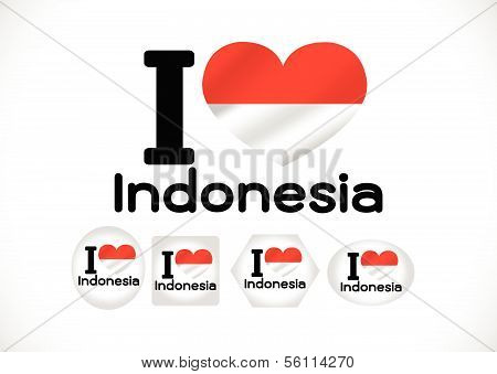 Indonesia Flag vector Illustration