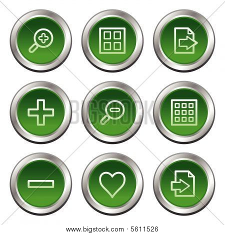 Image viewer web icons, green circle buttons series