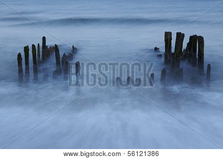 Sylt (germany) - Groin In The Evening (long Time Exposure)