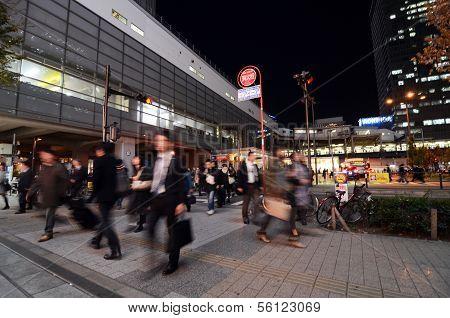 Tokyo - Nov 21: People Visit Akihabara Shopping Area On November 21, 2013 In Tokyo.