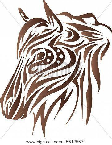 Women horse head