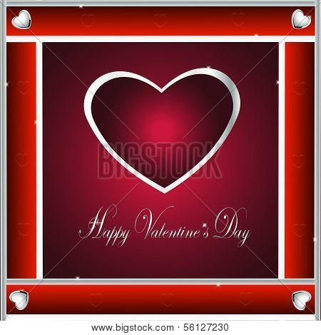 Valentine-Burgandy & Silver Hearts