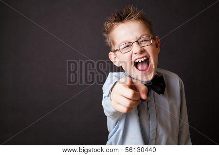 Little boy shouting
