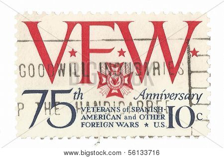 United State stamp of Veterans of Foreign Wars
