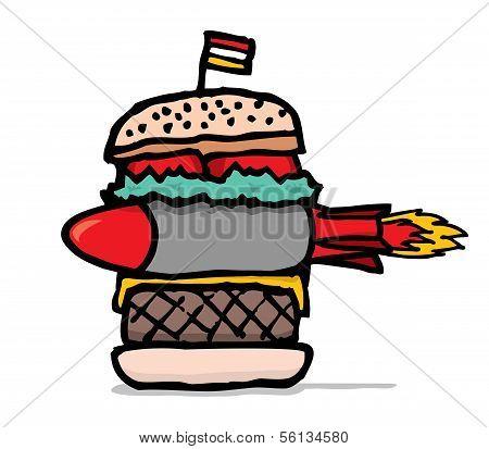 Huge Missile Burger