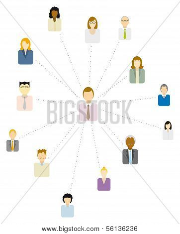 Forum Moderator or Social And Business Network Or People Icon