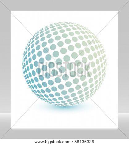 Multicolored globe vector.