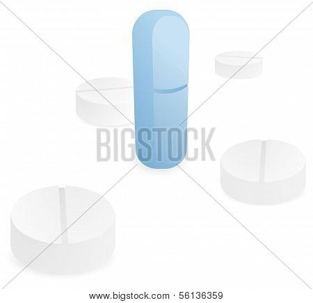 Powerful Standing Blue Pill