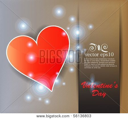 Heart valentines day background. Vector