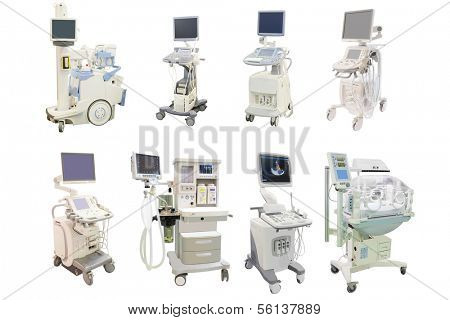 Medical apparatus isolated under the white background