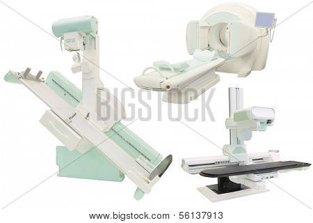 X-ray apparatuses under the white background