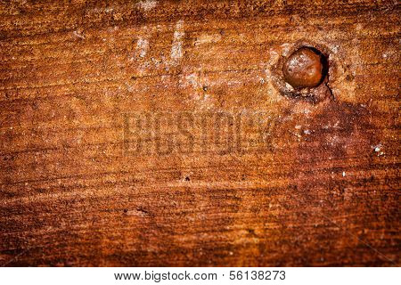 Rust Stained Concrete  With Hole