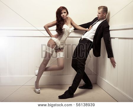 Dominating Woman And Handsome Man