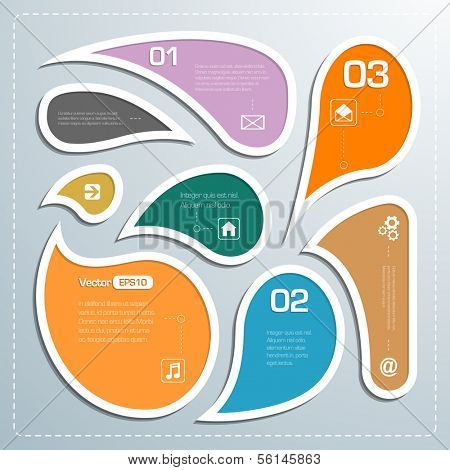 Modern business bubble speech template style infographics eps 10