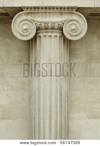 Ionic column detail, greek architecture