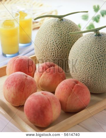 peachs and melons
