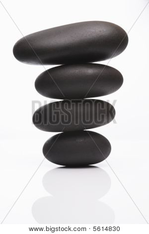 Spa Stones In Perfect Balence