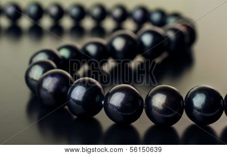 Necklace Of Black Pearls
