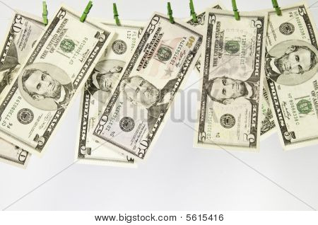 Macro View Of Us Dollars