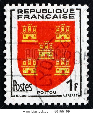Postage Stamp France 1953 Arms Of Poitou