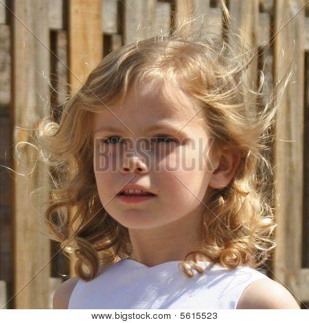 pretty blond child