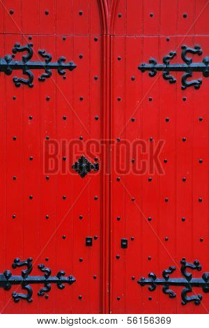 Old traditional door in Edinburgh, Scotland, Europe