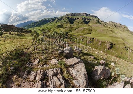 Mountains Valley Rocks Landscape