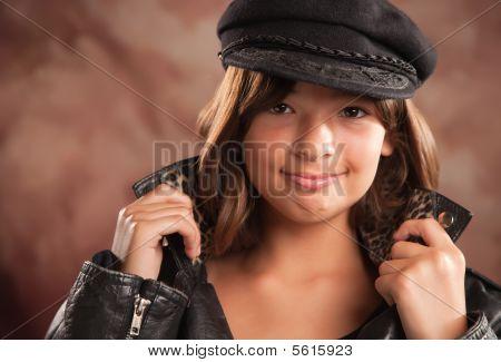 Pretty Hispanic Girl Studio Portrait