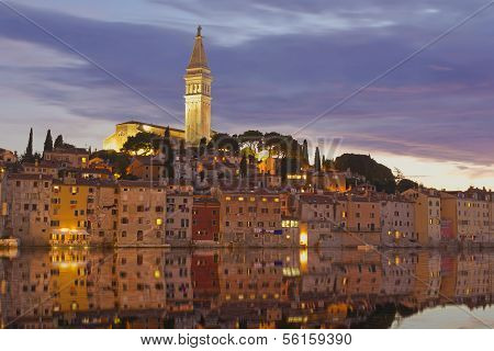 Rovinj At Sunset. Croatia.
