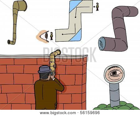 Various Periscope Spying Cartoons