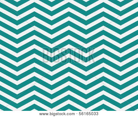 Dark Teal And White Zigzag Textured Fabric Background