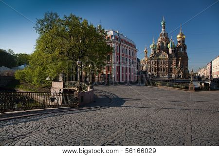 Church of Our Savior on Spilled Blood in Saint-Petersburg. Russia