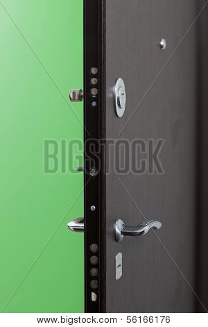 The Entrance Door To The Apartment