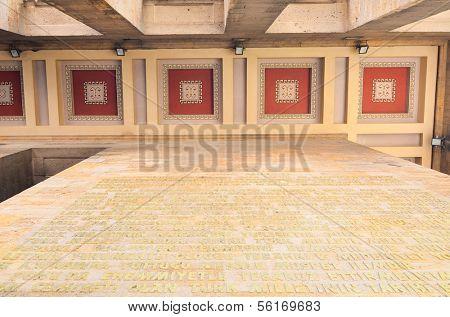 ANKARA, TURKEY-JULY 29: Architectural details of Mausoleum of Ataturk (Anitkabir) on July,29 2012 in Ankara, Turkey