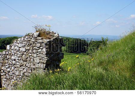 Irish ruins and landscape