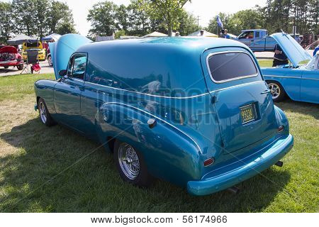 1952 Blue Chevy Delivery Sedan
