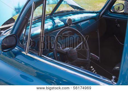 1952 Blue Chevy Delivery Sedan Interior